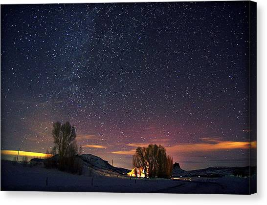 Country Night Life Canvas Print