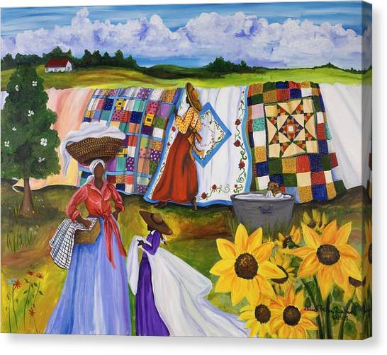 Racism Canvas Print - Country Quilts by Diane Britton Dunham