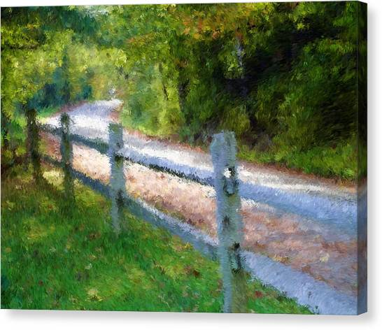 Country Road Canvas Print by Ralph Liebstein
