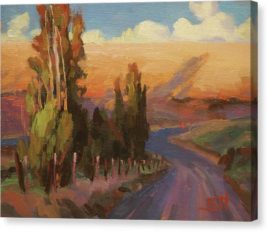 Driving Canvas Print - Country Road by Steve Henderson