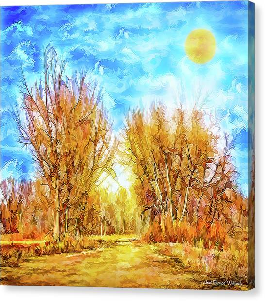 Country Road Wandering Canvas Print