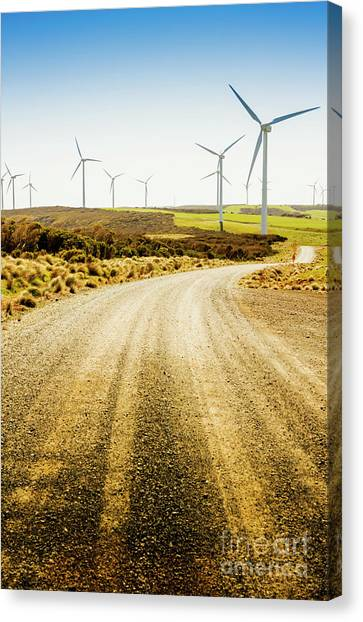 Dirt Road Canvas Print - Country Roads And Scenic Windfarms by Jorgo Photography - Wall Art Gallery