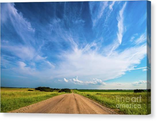 Saskatchewan Canvas Print - Country Roads IIi by Ian McGregor