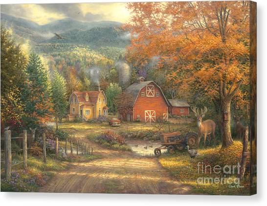 West Virginia Canvas Print - Country Roads Take Me Home by Chuck Pinson
