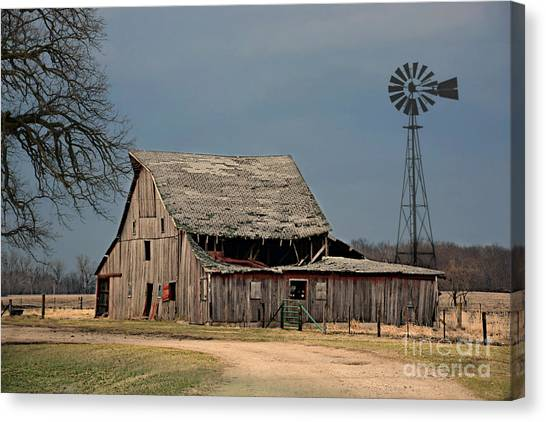 Country Roof Collapse Canvas Print