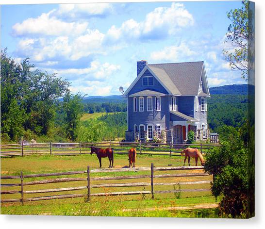 Country Splendor Canvas Print by Ashley Porter