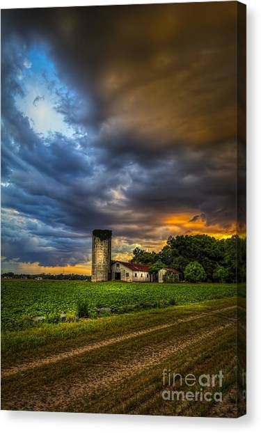Horse Farms Canvas Print - Country Tempest by Marvin Spates