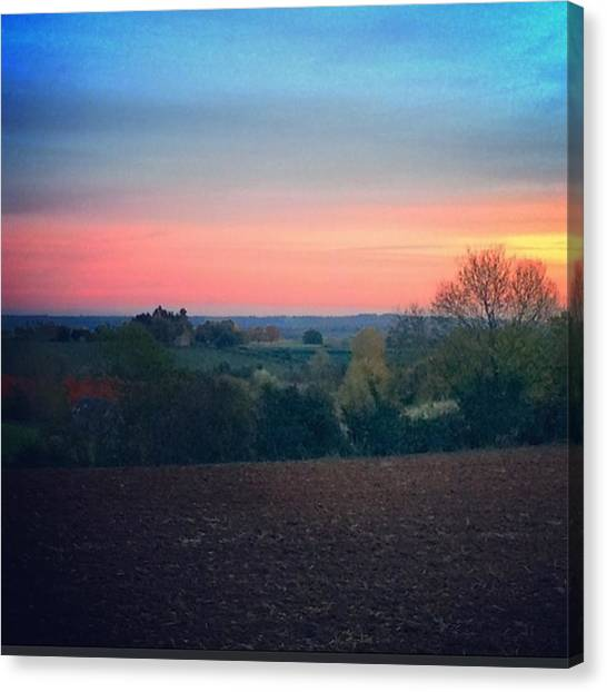 Warwickshire Canvas Print - Country Walk At Dusk #family #country by Jess Hawley