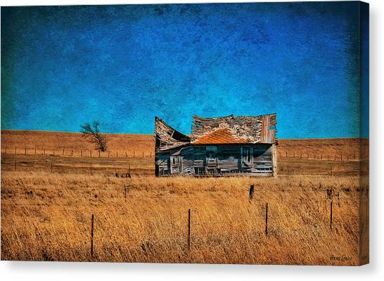 Countryside Abandoned House Canvas Print