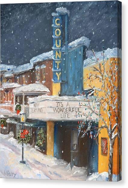 County Christmas Canvas Print