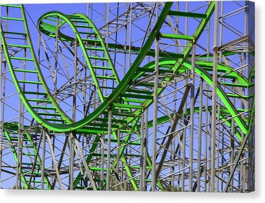 County Fair Thrill Ride Canvas Print