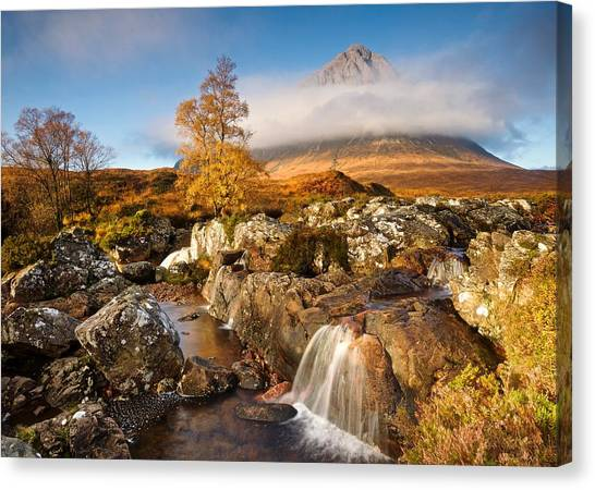 Coupall Falls Glencoe Canvas Print