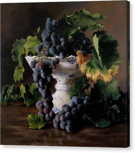 Vine Grapes Canvas Print - Coupe De Raisin by Kira Weber