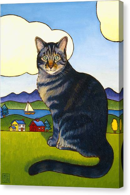 Coupeville Cat Canvas Print