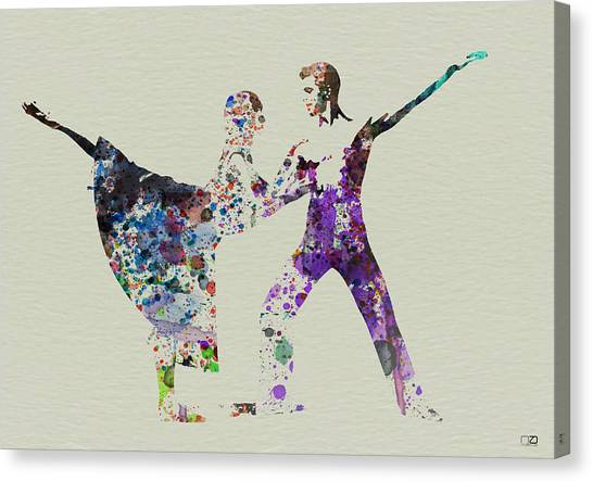 Costume Canvas Print - Couple Dancing Ballet by Naxart Studio