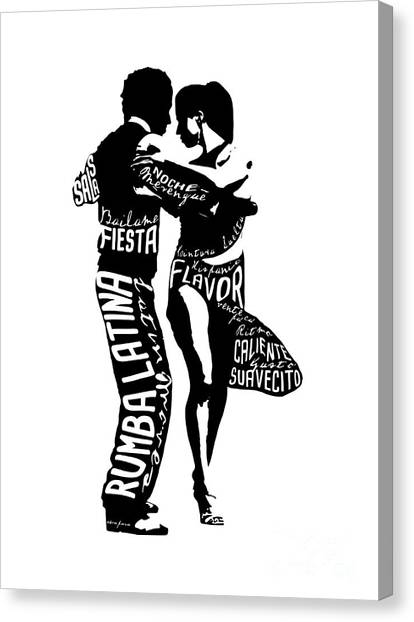 Couple Dancing Latin Music Canvas Print
