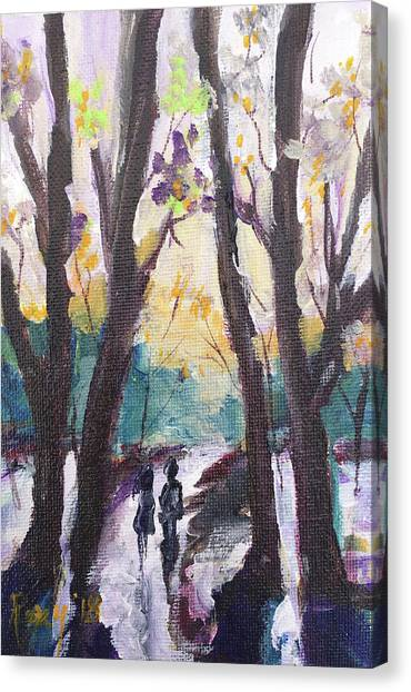 Farmhouse Canvas Print - Couple In The Woods by Roxy Rich