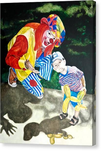 Couple Of Clowns Canvas Print