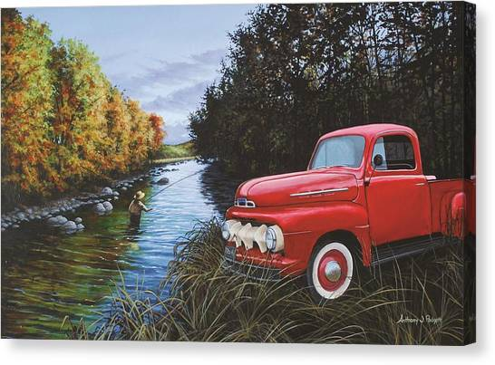 Couple Of Old Timers Canvas Print