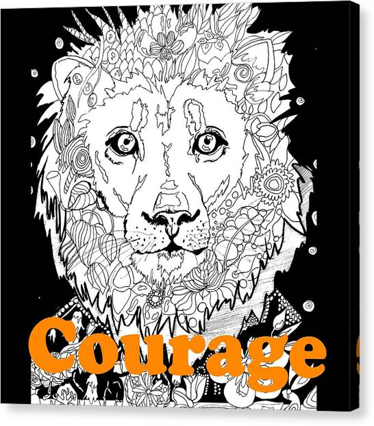Ocicats Canvas Print - Courage Cat Lion by Kaylin Watchorn