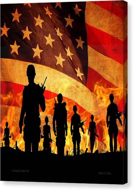 Courage Under Fire Canvas Print