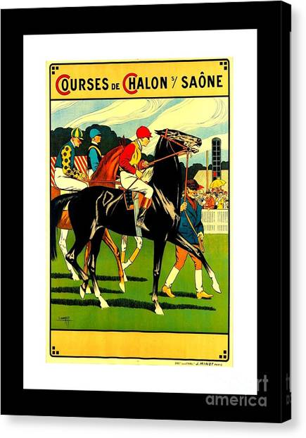 Courses De Chalon French Horse Racing 1911 II Canvas Print