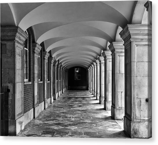 Court Cloister Canvas Print