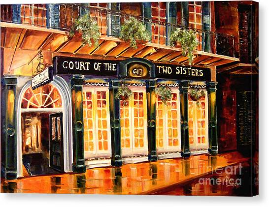 Louisiana Canvas Print - Court Of The Two Sisters by Diane Millsap