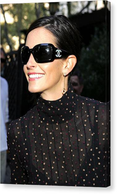 Press Conference Canvas Print - Courteney Cox Wearing Chanel Sunglasses by Everett