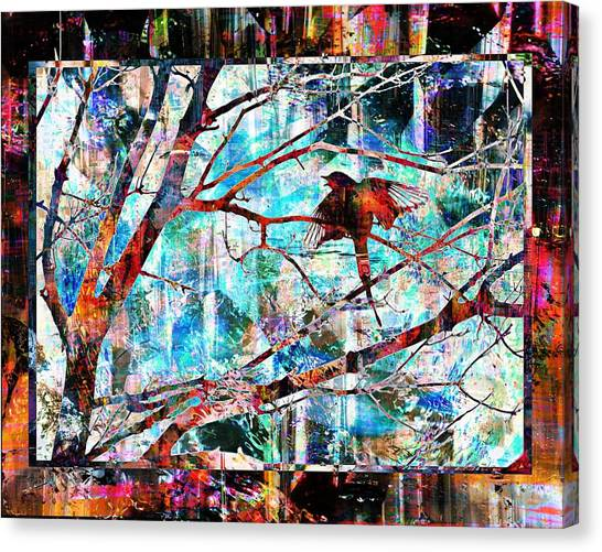 Courting Bird Canvas Print