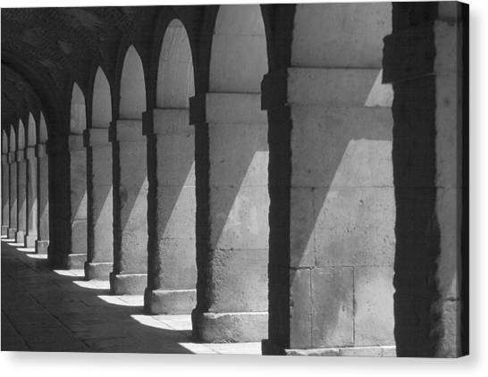 Courtyard Spain Canvas Print by Douglas Pike