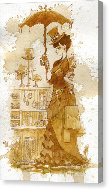 Steampunk Canvas Print - Couture by Brian Kesinger