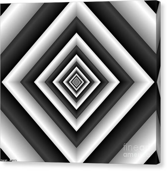 Covariance  6 Modern Geometric Black White Canvas Print