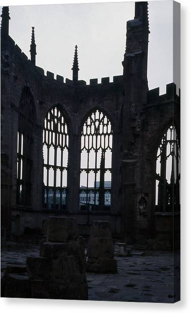 Coventry Cathedral Remains England Canvas Print by Richard Singleton