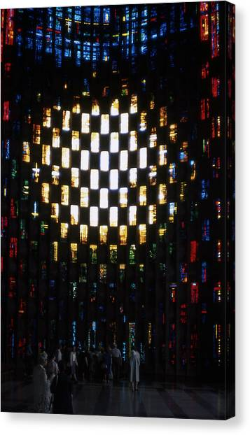 Coventry Cathedral Stained Glass Window England Canvas Print by Richard Singleton