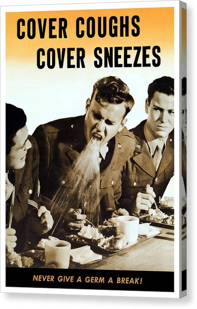 Nursing Canvas Print - Cover Coughs Cover Sneezes by War Is Hell Store