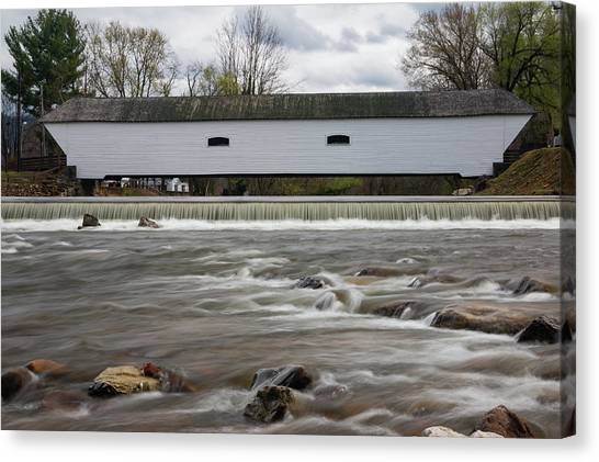 Covered Bridge In March Canvas Print