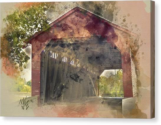 Utica Mills Covered Bridge Canvas Print