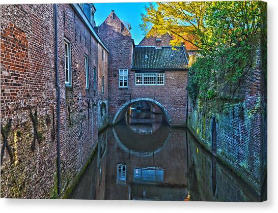 Covered Canal In Den Bosch Canvas Print