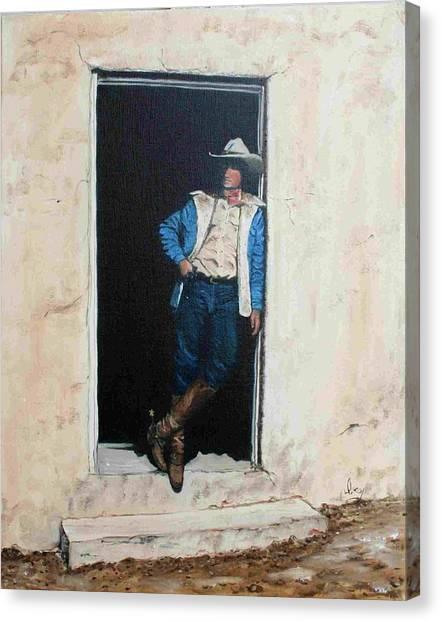 Cowboy Cade Canvas Print