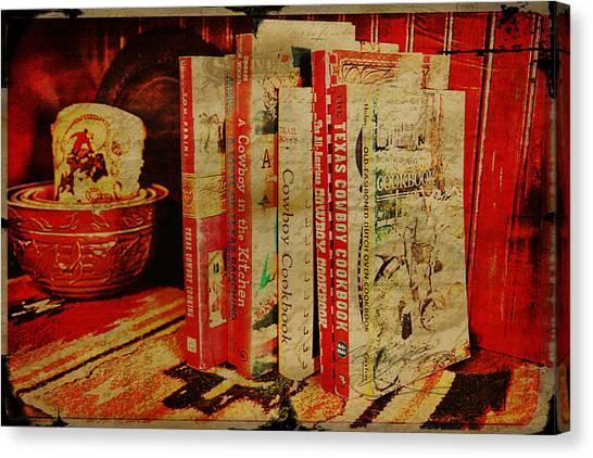 Cornbread Canvas Print - Cowboy Cookbooks by Toni Hopper