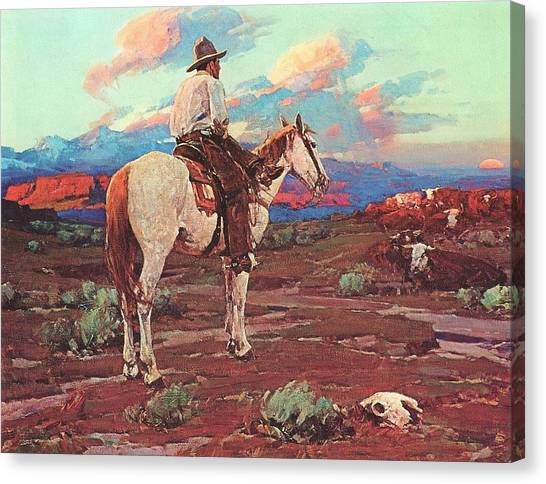 Open Range Canvas Print - Cowboy Country by Pg Reproductions
