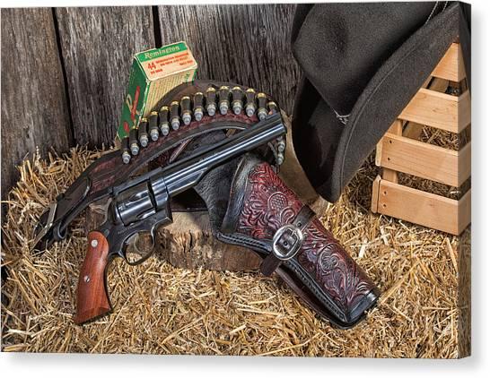 Cowboy Gunbelt Canvas Print