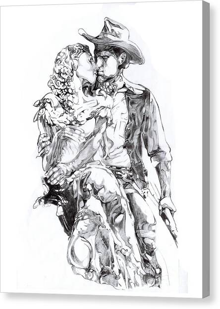 Cowboy Canvas Print - Cowboy by Mike Massengale