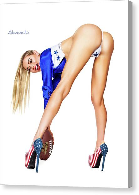 Dallas Cowboys Cheerleaders Canvas Print - Cowboy Nation by Robert Alvarado