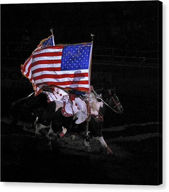 Cowboy Patriots Canvas Print