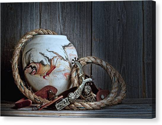 Rope Canvas Print - Cowboys And Indians by Tom Mc Nemar
