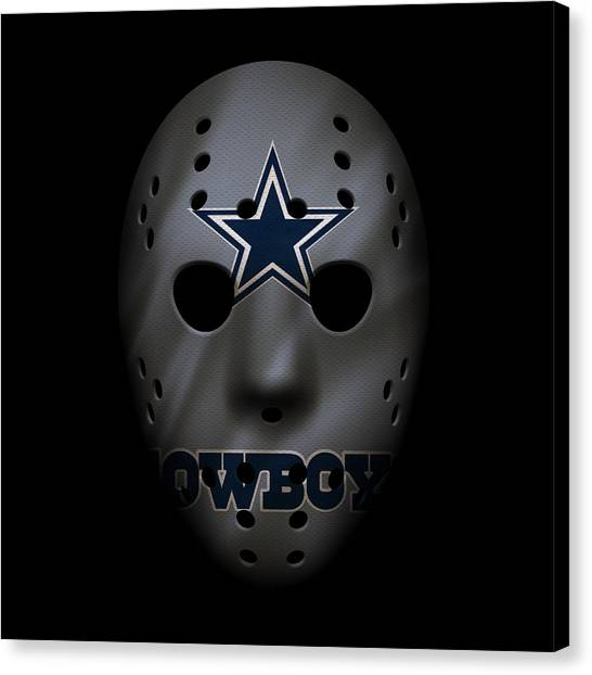 Dallas Cowboys Canvas Print - Cowboys War Mask 2 by Joe Hamilton
