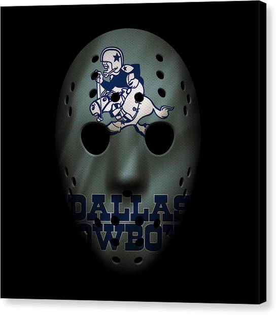 Dallas Cowboys Canvas Print - Cowboys War Mask by Joe Hamilton