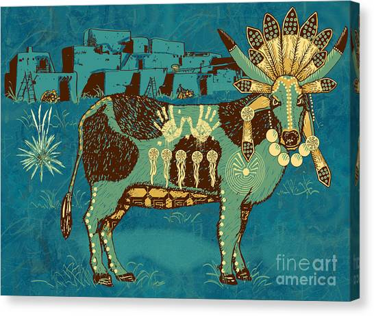 Bulls Canvas Print - Cowchina by Laura Brightwood